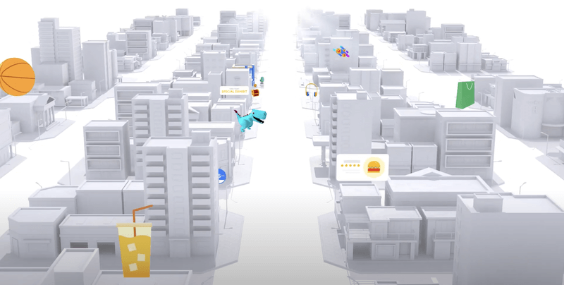 Buildings in a virtual city
