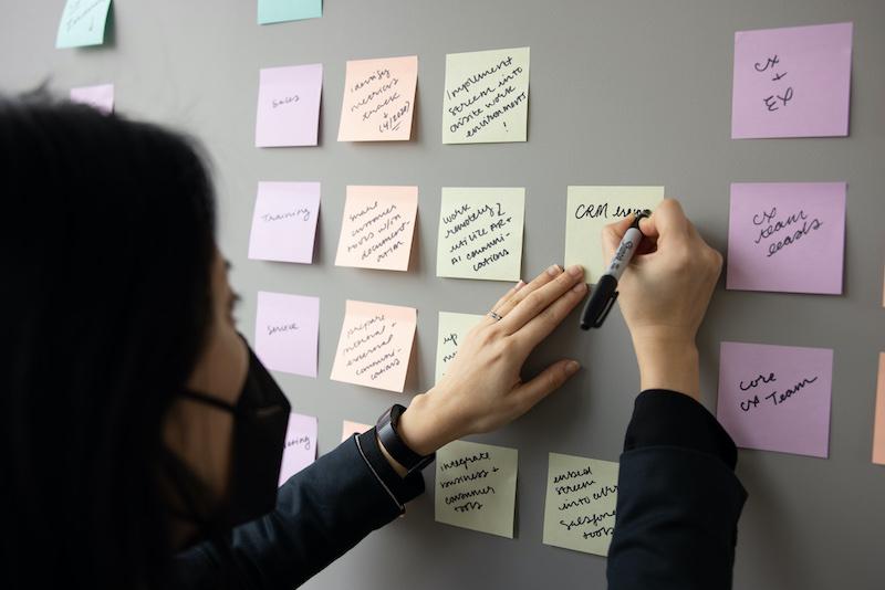 Digital Transformation Planning on Sticky Notes