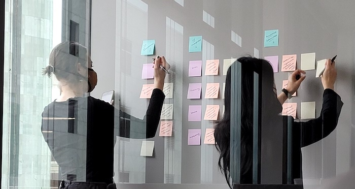 Remote Digital Transformation IT Planning with Sticky Notes